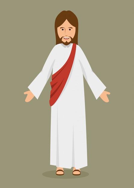 Иисус христос религиозный персонаж Бесплатные векторы