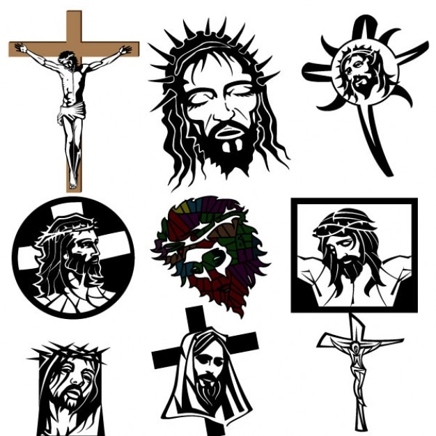 Jesus Christ religious images Vector | Free Download