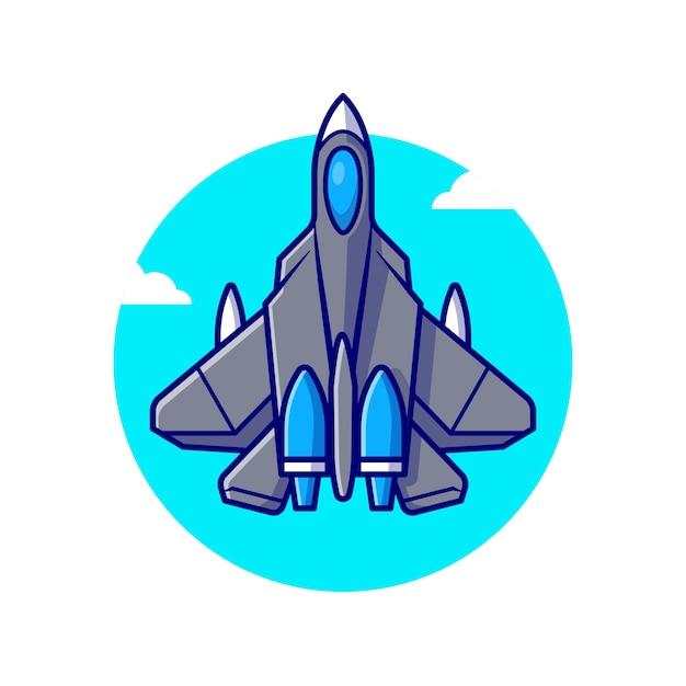 Jet da combattimento aereo illustrazione di volo Vettore gratuito