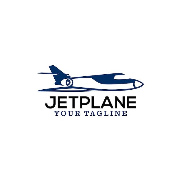 Jet plane logo Premium Vector