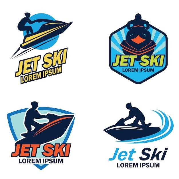 Jet ski logo Premium Vector