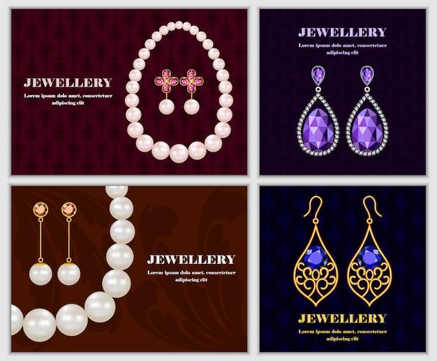 Jewellery banner concept Premium Vector