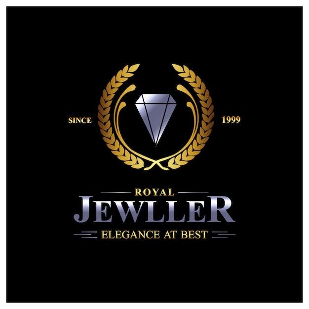 Jewelry logo background Free Vector