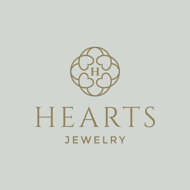Jewelry logo design Premium Vector