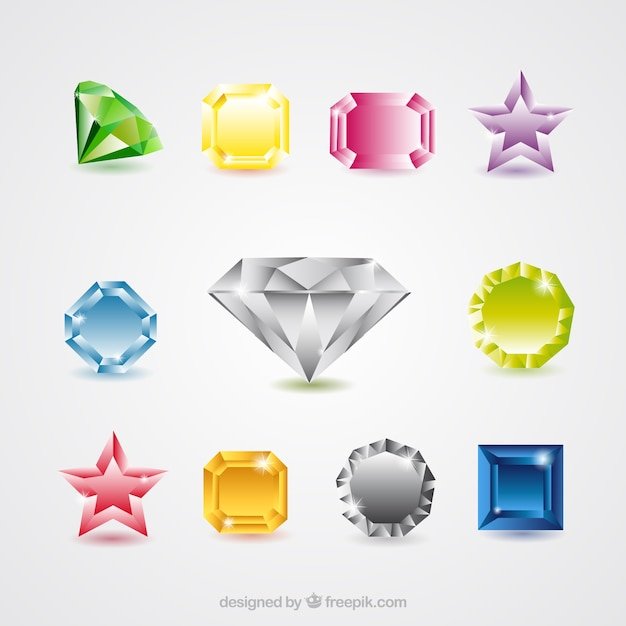 Jewels collection Free Vector