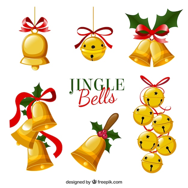Jingle bells set Free Vector