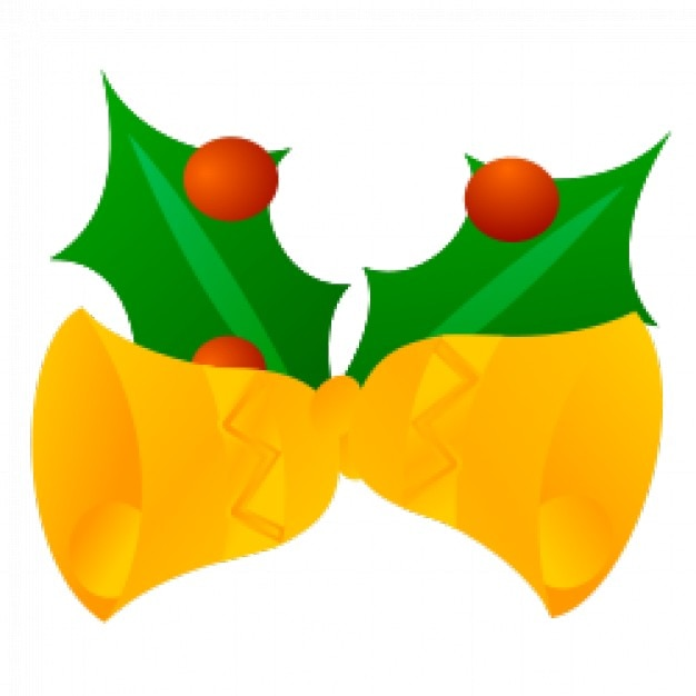 Lovely Jingle Bells Vector Clipart Free Vector
