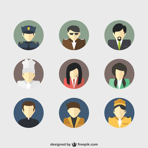 Job avatars Vector | Free Download