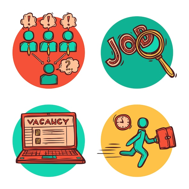 Job business concept composition Free Vector