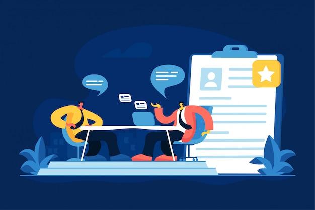 Job interview concept vector illustration Premium Vector