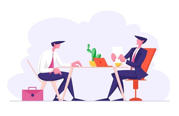 Собеседование с менеджером отборочной комиссии задание вопросов Premium векторы