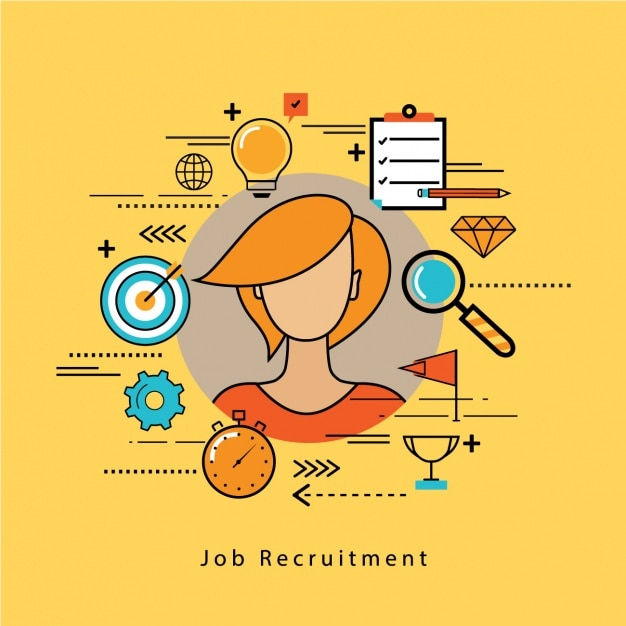 Job Recruitment Background Design Vector Free Download