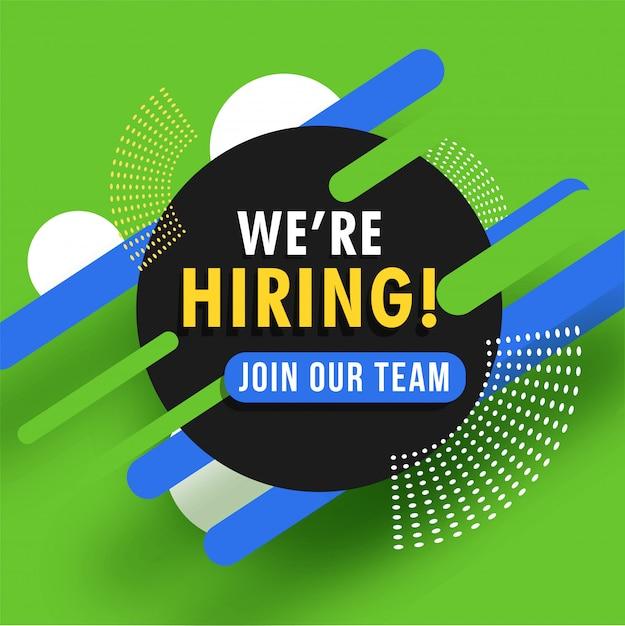 Job recruitment concept. Premium Vector