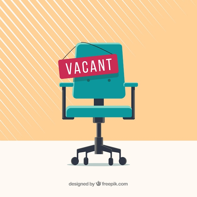 Job vacancy background in flat style Free Vector