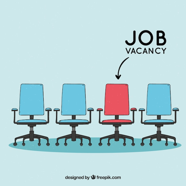 Job vacancy background with chairs