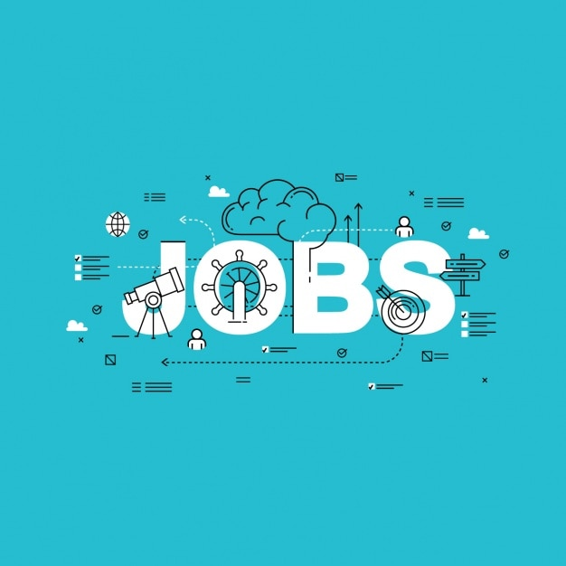 Jobs background design Free Vector