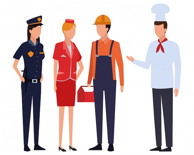 Jobs and professions avatar Premium Vector