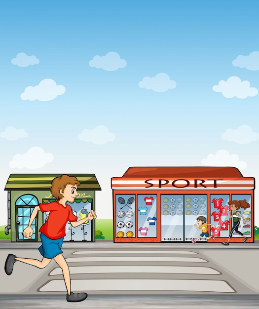 Joggers and sports outlet Free Vector