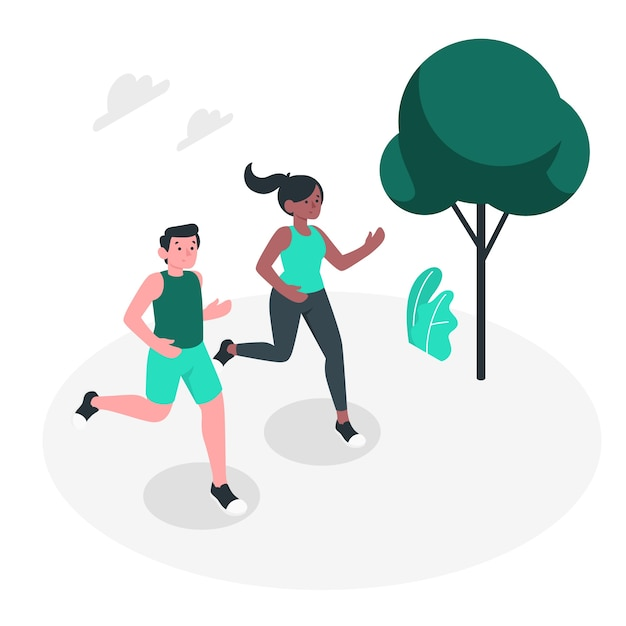 Jogging concept illustration Free Vector
