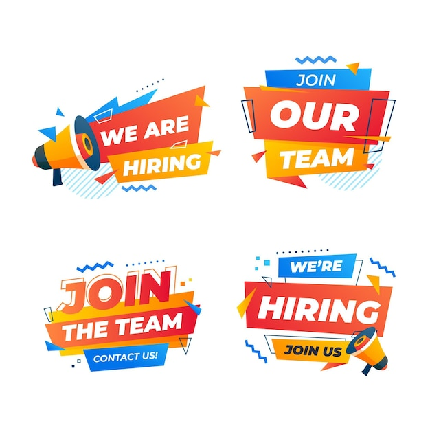 Join the team we are hiring banner template Free Vector
