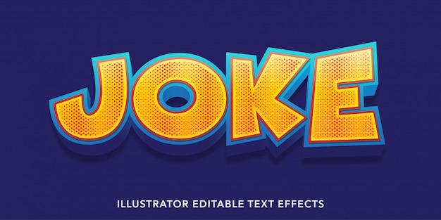 Joke style editable text effects templates Premium Vector