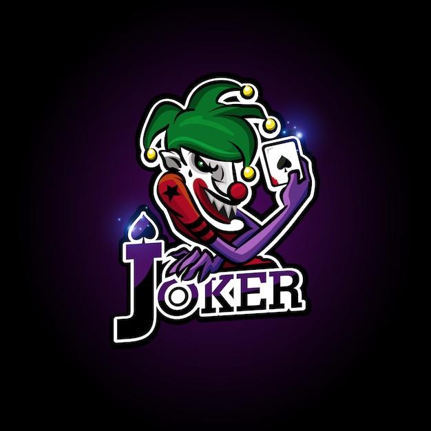 Joker esport Premium Vector
