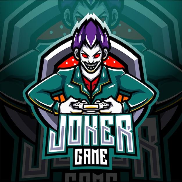 Joker game esport mascot logo Premium Vector