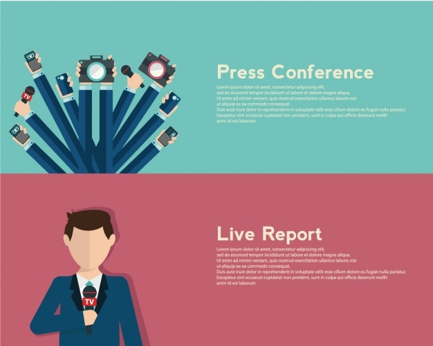 Journalism banners set Free Vector