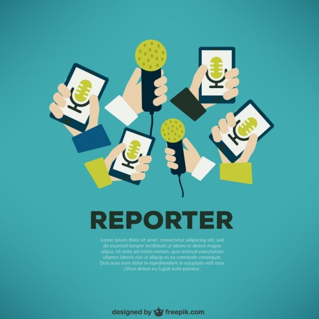 Journalist press concept Free Vector