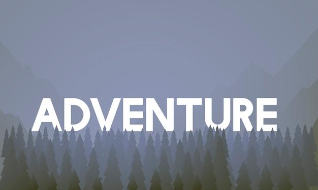 Journey Adventure Destination Landscape\ Vector