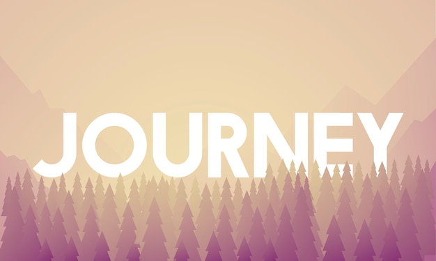 Journey adventure destination landscape vector Free Vector