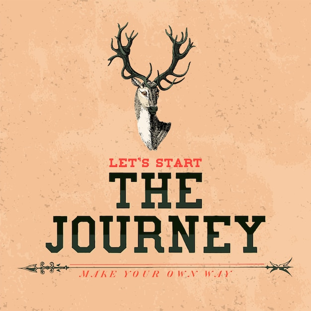 The journey logo design vector Free Vector