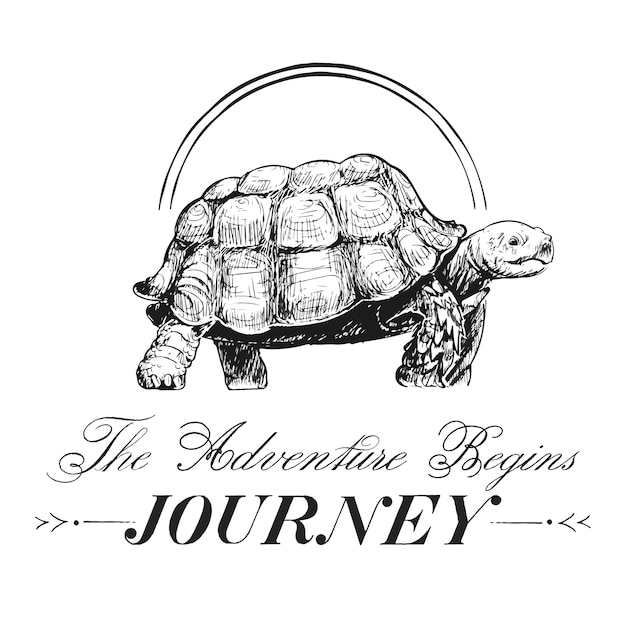 Journey and travel logo design vector Free Vector