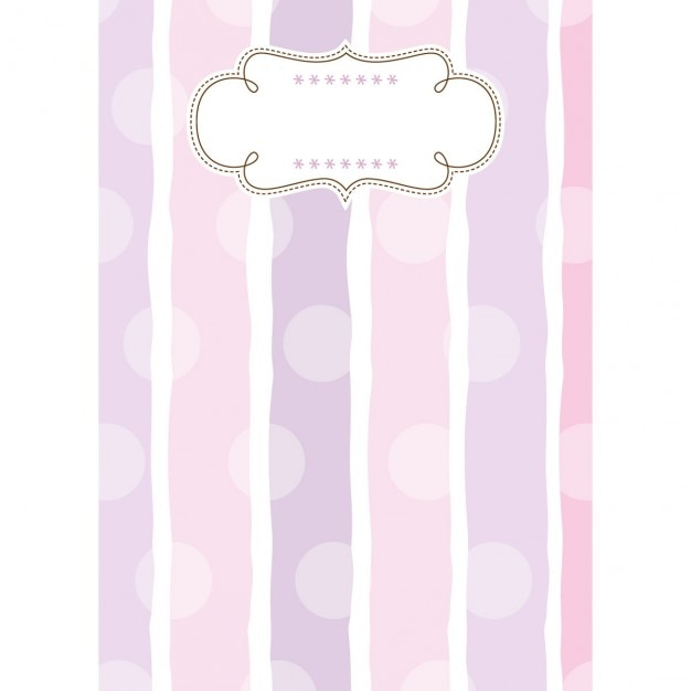 Joyful childish template background with strips and dots Free Vector