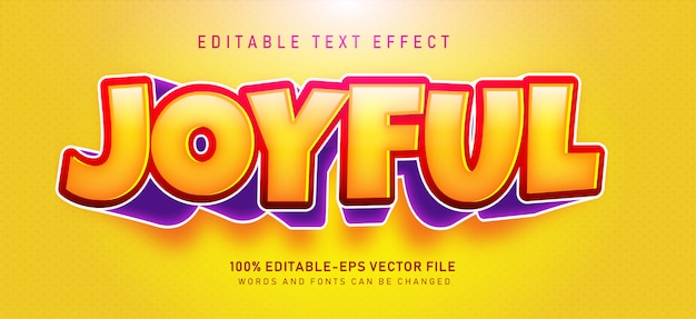 Joyful text effect Free Vector
