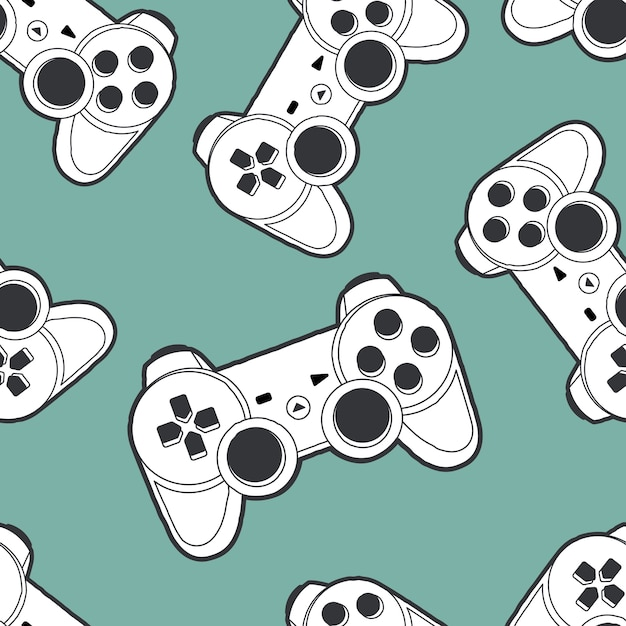 Joystick Vector Seamless Free Vector