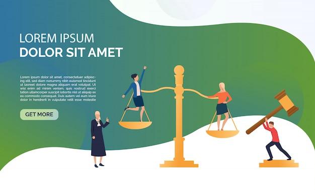 Judgement service presentation illustration Free Vector