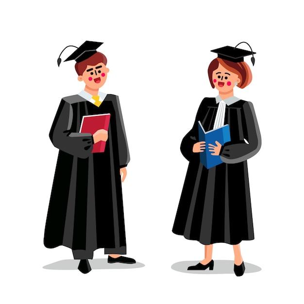 男性と女性のカップルの法廷労働者を裁判官 Premiumベクター
