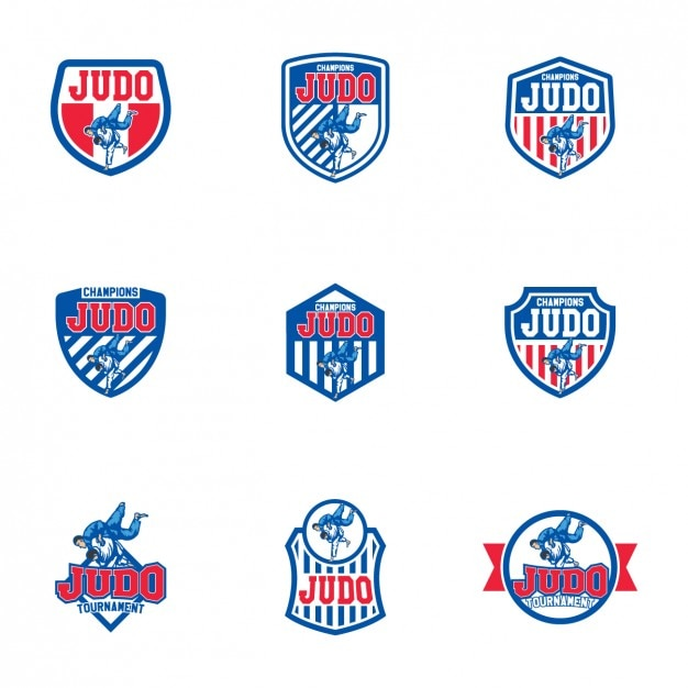 Judo logo templates design