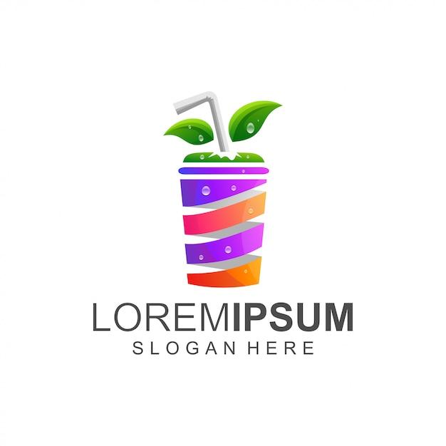 Juice color logo Premium Vector