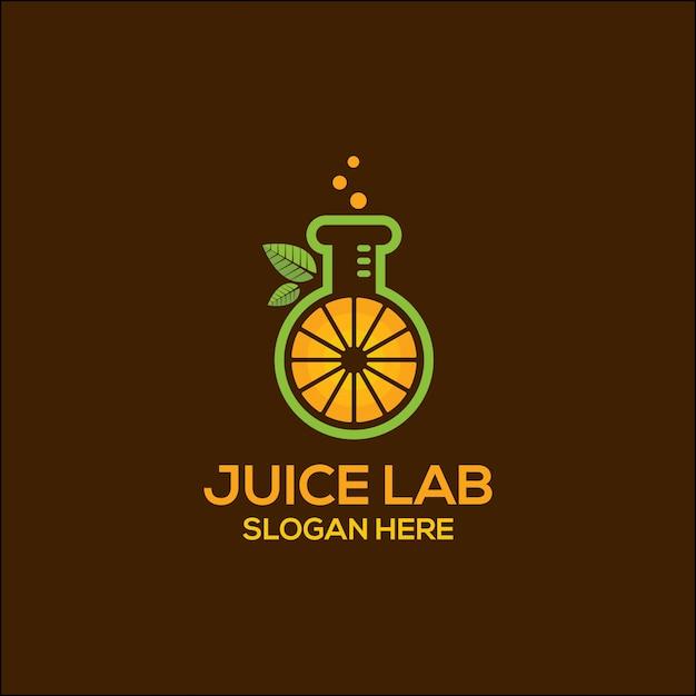 Juice lab logo Premium Vector