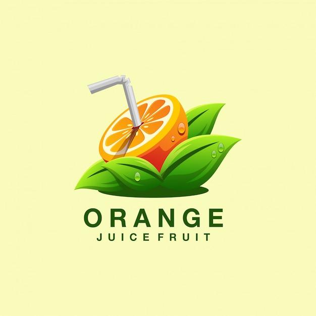 Juice logo design vector illustrator Premium Vector
