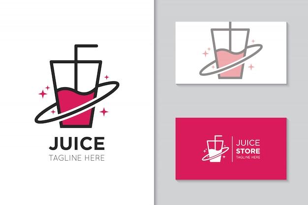 Juice logo and icon illustration Premium Vector