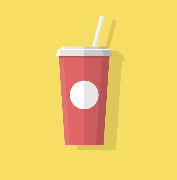 Juice and soda abstract flat style Premium Vector
