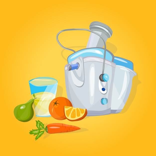 Juicer machine cartoon Premium Vector