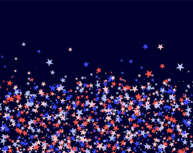 July 4th pattern made of stars Premium Vector