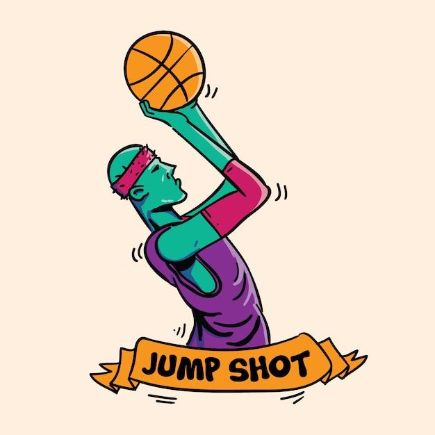 Jump shot icon Premium Vector
