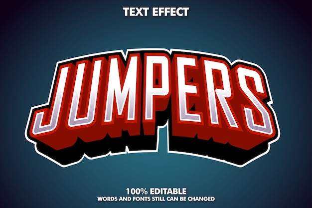 Jumpers text effect, esport logo text style Free Vector