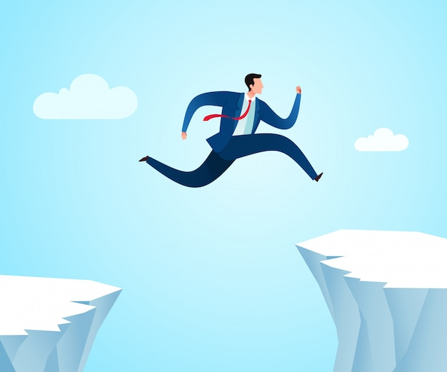 Jumping to another position for better opportunity Premium Vector