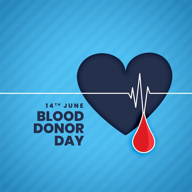June blood donor day concept background Free Vector